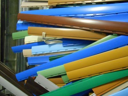 Stecche che compongono la tapparella in plastica