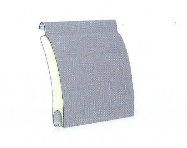 Profilo di tapparella in acciaio coibentata