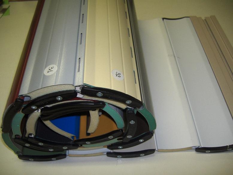 Le tapparelle in alluminio possono essere coibentate a densità standard o alta densità