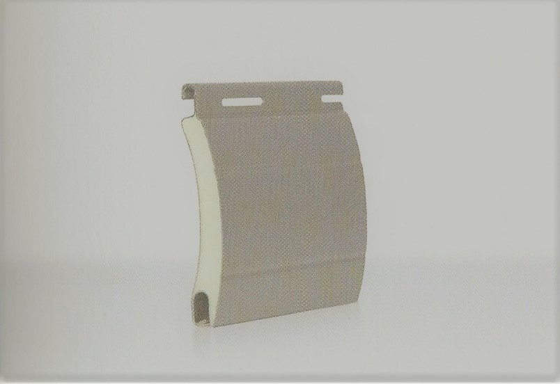 Tapparella in alluminio coibentato con poliuretano a densità standard: profilo