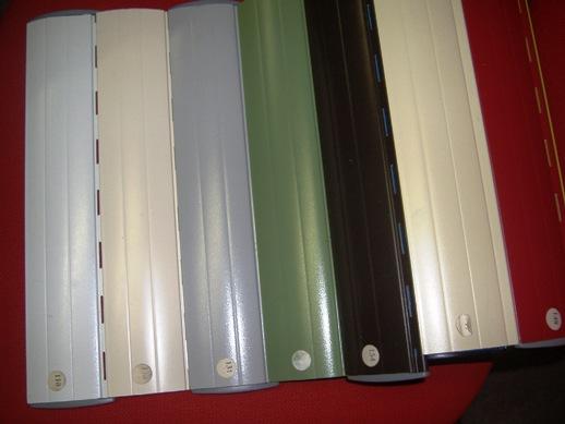Tapparelle in alluminio coibentato con poliuretano espanso disponibili in vari colori