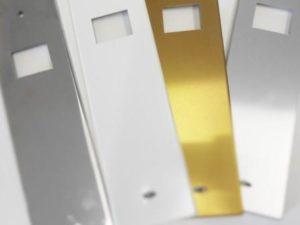 Placca Zenith per avvolgitore a incasso colore argento, inox, bronzato o bianco