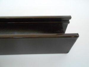Guide per tapparelle in alluminio, tagliate a misura, colore marrone