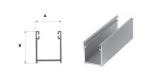 Guide per tapparelle in alluminio o lamiera zincata, diverse misure e colori